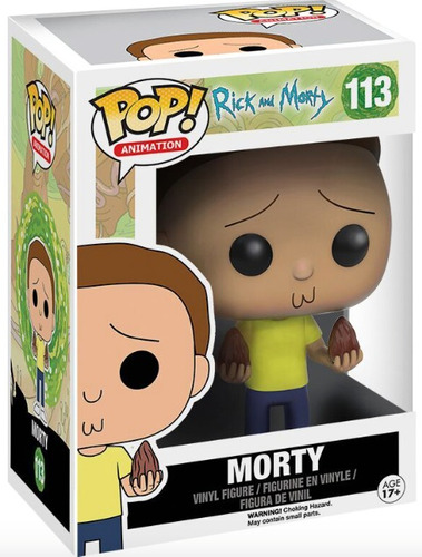funko pop morty de rick and morty serie caricatura vinyl
