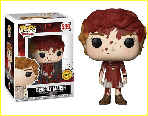 funko pop! movies beverly marsh vinyl figure bloody chase