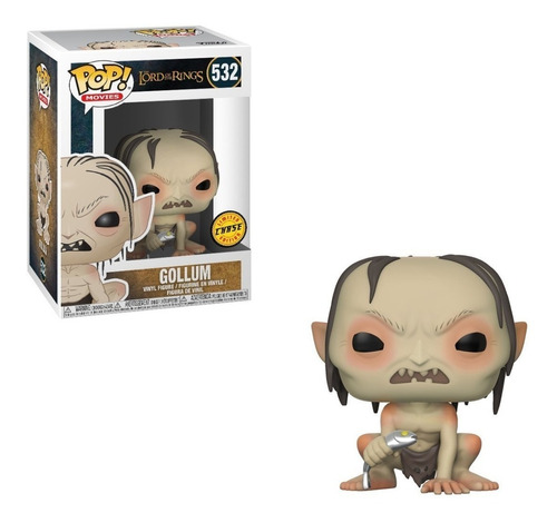 funko pop movies the lord of the rings gollum (chase) #532