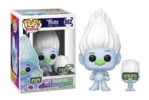 funko pop! movies trolls guy diamond with tiny 882 diamond c