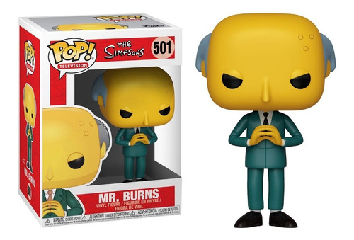 funko pop mr burns #501 los simpsons jugueterialeon