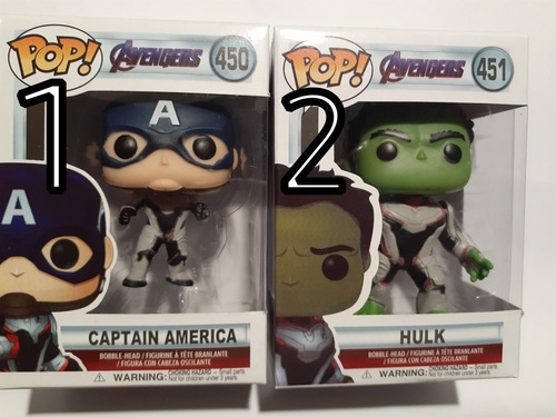 funko pop muñecos avengers hulk c américa thor stark