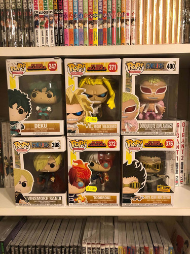 funko pop my hero academia y one piece.