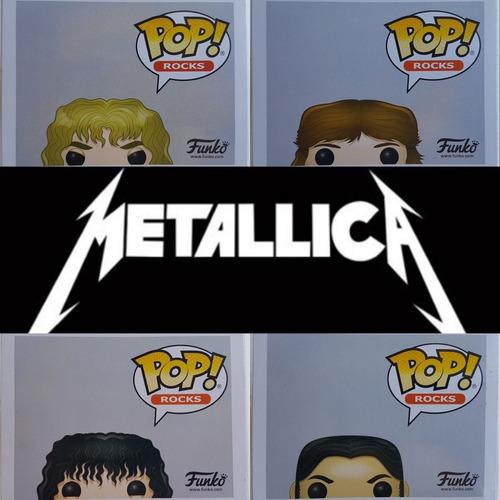 funko pop! originales metallica hetfield trujillo hammett