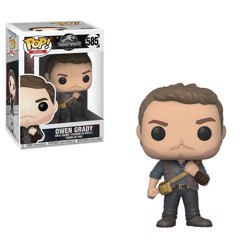 funko pop owen grady 585 jurassic world - minijuegos