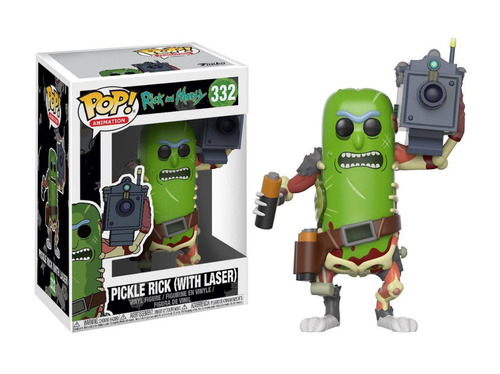funko pop pickle rick #332 de rick and morty jugueterialeon