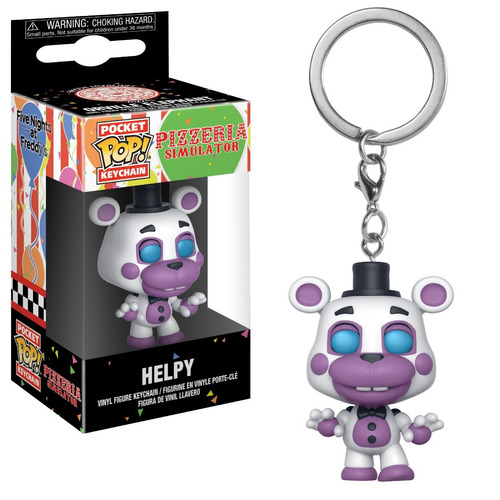 funko pop pocket llavero five nights pizza sim helpy