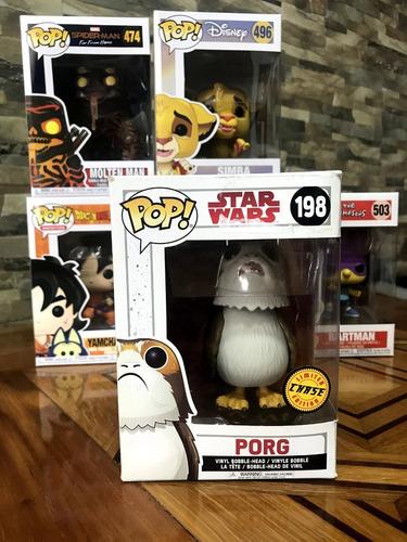 funko pop porg star wars chase #198 muñeco coleccionable