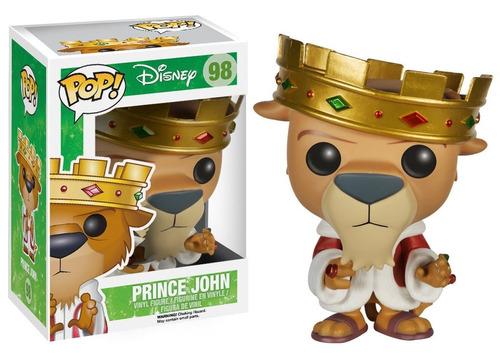 funko pop prince john disney raro de robin hood leon