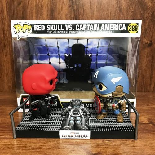 funko pop, red skull vs capitán america - marvel - 389