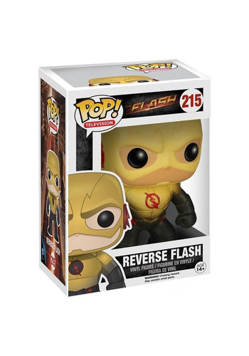 funko pop! reverse flash #215 flash television dc comics