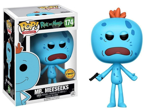 funko pop! rick and morty -mr. meeseeks #174 - chase edition