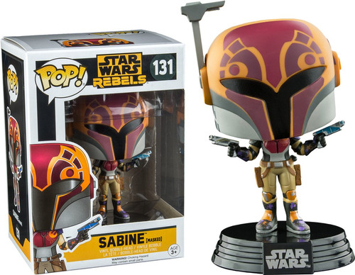 funko pop sabine masked star wars rebels exclusivo vinyl