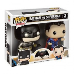 funko pop set 2 batman vs superman metalicos exclusivos dc