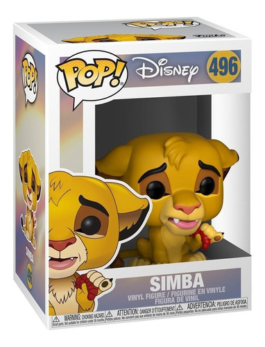 funko pop simba #496 el rey leon disney muñeco lion king