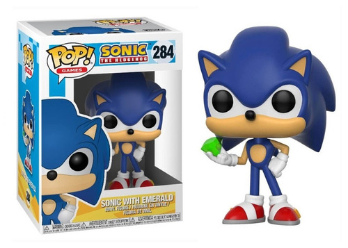 funko pop sonic with emerald #284 - sonic the hedgehog