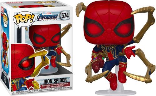 funko pop spider-man avengers guantelete # 574 balvanera