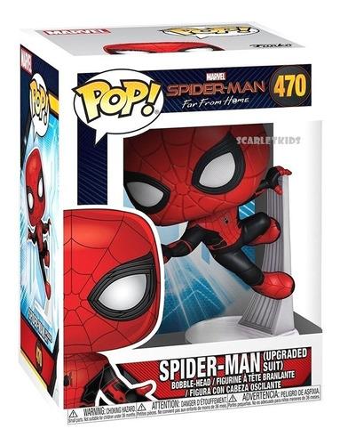 funko pop! spiderman 470 original lejos de casa scarlet kids