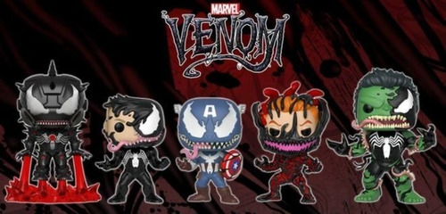 funko pop - spiderman - broc - spiderverse - venom - carnage