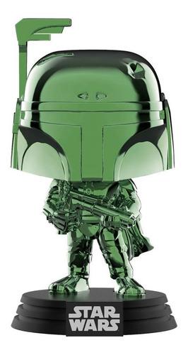 funko pop star wars boba fett (green chrome) summer conventi