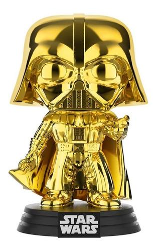 funko pop star wars darth vader (gold chrome) galactic conve