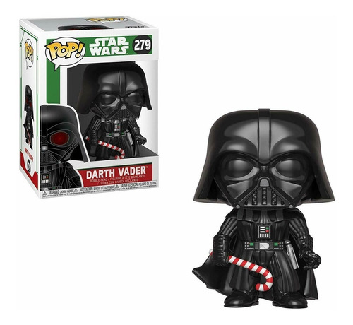 funko pop star wars holiday darth vader with candy cane