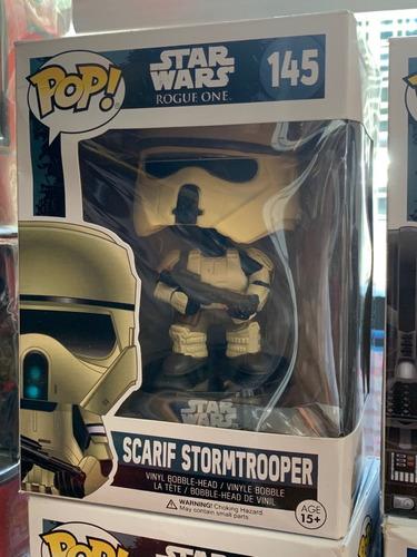 funko pop star wars / rogue one-figura scarif -stormtrooper