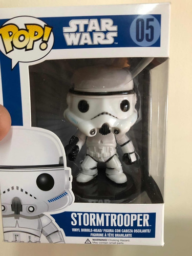 funko pop star wars stormtrooper #05 original bobble head