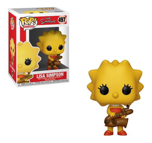 funko pop the simpsons s2 - lisa saxophone #497 original