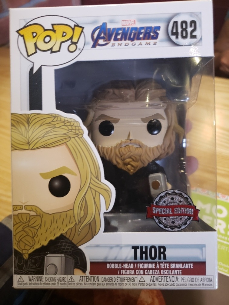 Funko Pop Thor With Weapons Avengers End Juego Pequeño Daño