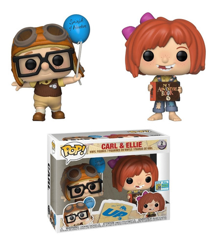 funko pop! - up (2 piezas) - carl & ellie (40161)