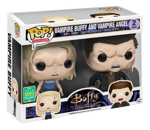 funko pop vampire buffy and angel  2-pack exclusivo xcl