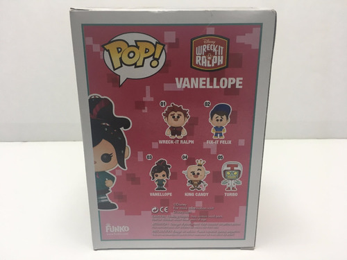 funko pop! vanellope 03 disney ralph demoledor vinil b