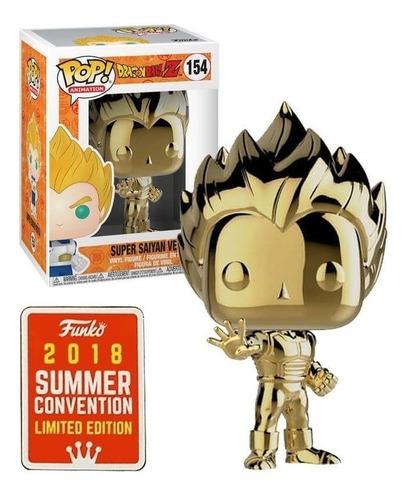 funko pop! vegeta gold chrome exclusive sdcc dragon ball