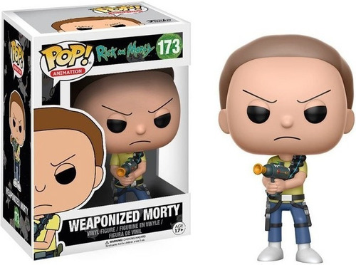 funko pop weaponized morty 173 - rick and morty