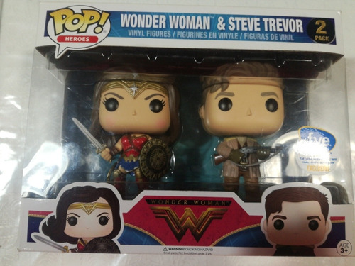 funko pop wonder woman &steve trevor