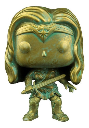 funko pop wonder woman supanova bronze patina dc comics