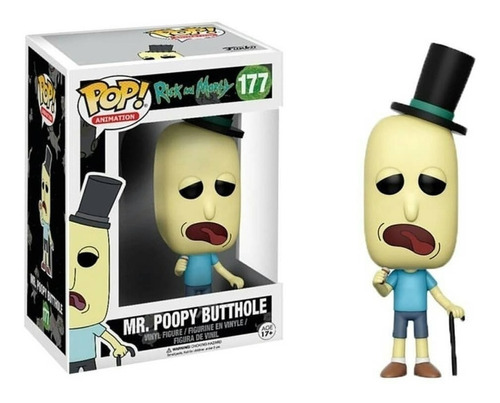 funko pop!rick and morty # mr.poopy butthole 177 original