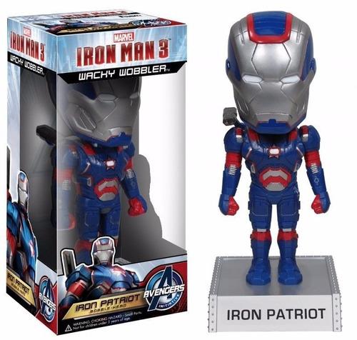 funko wacky wobbler - iron man  - iron patriot 15 cm