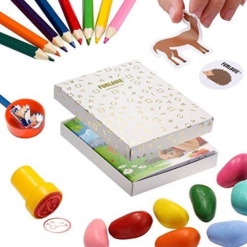 Funlavie Lápices De Colores Y Libros De Colorear Para Niño ...