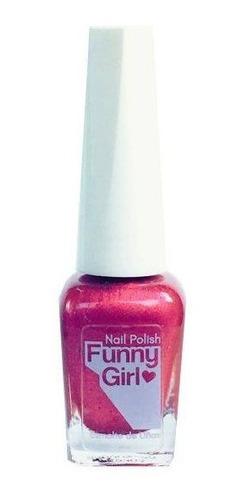funny girl nail polish - esmalte fucsia metalizado matte