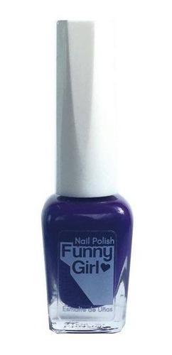 funny girl nail polish - esmalte violeta matte n° 1047