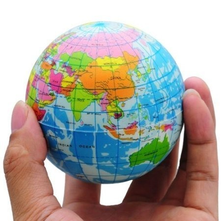 Funny world map globe espuma de alivio de estrs bouncy bal funny world map globe espuma de alivio de estrs bouncy bal gumiabroncs Choice Image