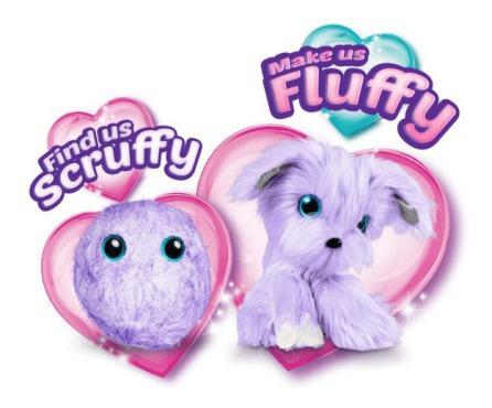 fur balls pets adotados surpresa roxo - fun