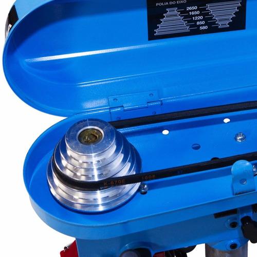furadeira de bancada 13mm gamma g2320 + serra copo madeira