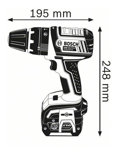 furadeira de impacto/parafusadeira bosch 127v gsb 14,4 v-li