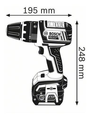 furadeira de impacto/parafusadeira bosch 127v gsb b14,4 v-li