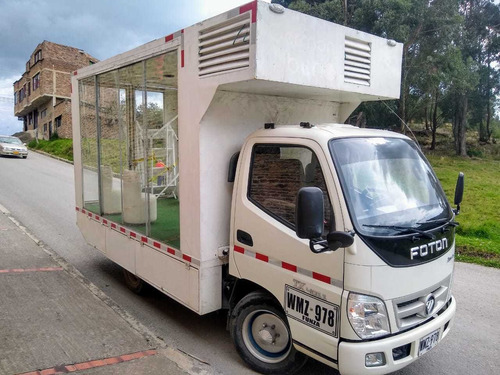 furgon carro vitrina listo para trabajar