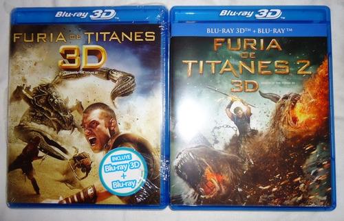furia de titanes peliculas 1 y 2 en blu-ray 3d + blu-ray