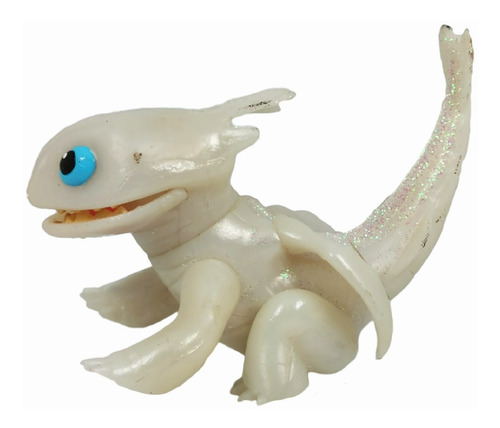 furia luminosa figura lightfury como entrenar dragon blanco